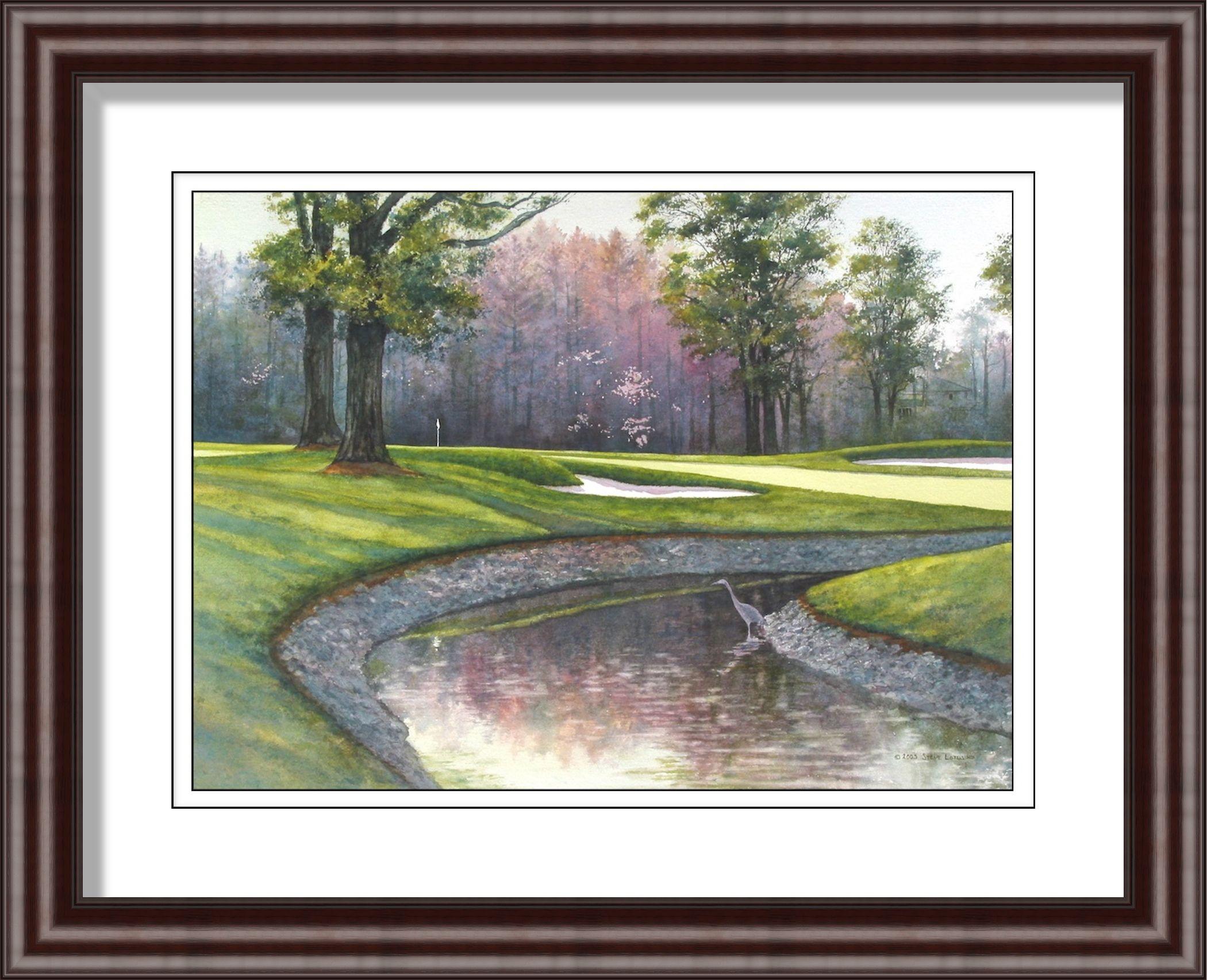 Oak hill country club golf art by steve lotus
