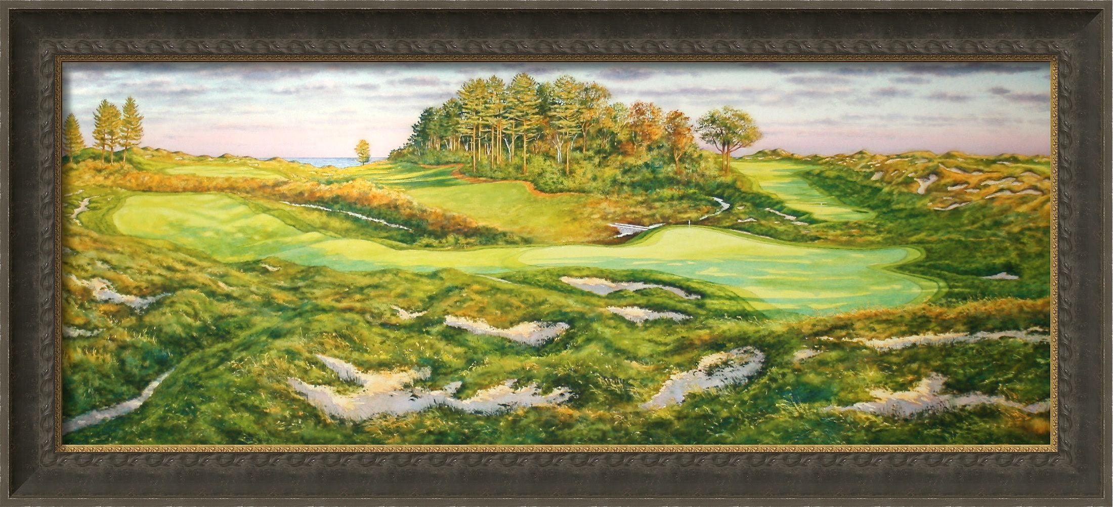 2007 us senior open golf art by steve lotus