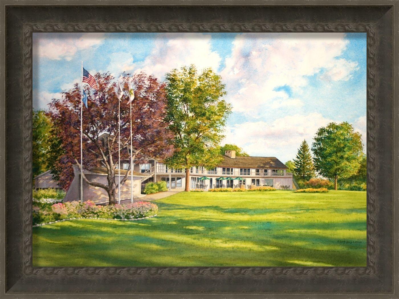 Hazeltine national golf club golf art by steve lotus